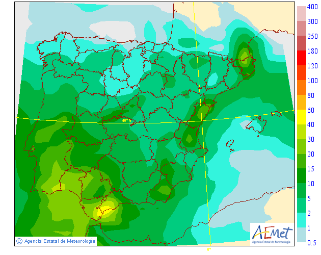 Precipitación Media AEMET. Meteosojuela.