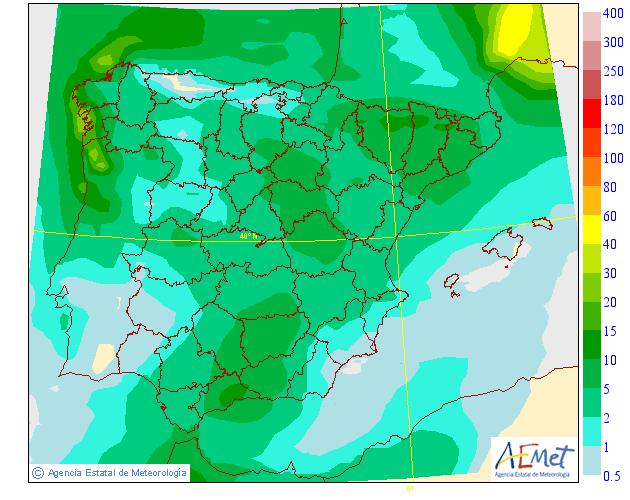 Precipitación Media AEMET. Meteosojuela.23