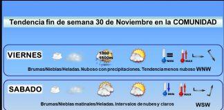Tendencia del tiempo en La Rioja 30 nov. Meteosojuela La Rioja. Jose Calvo