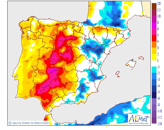 Variación temperaturas máximas AEMET. Meteosojuela La Rioja 13