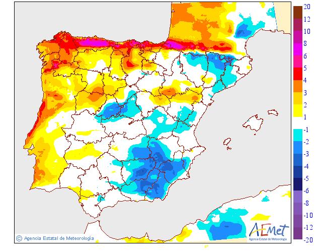 Variación temperaturas máximas AEMET. Meteosojuela La Rioja 14