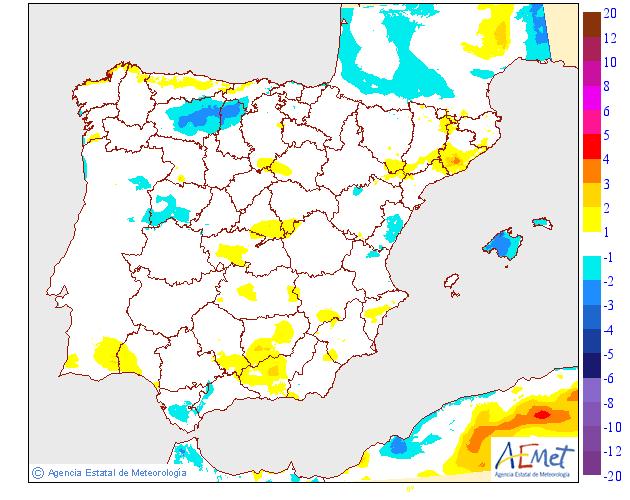 Variación temperaturas máximas AEMET. Meteosojuela La Rioja 16