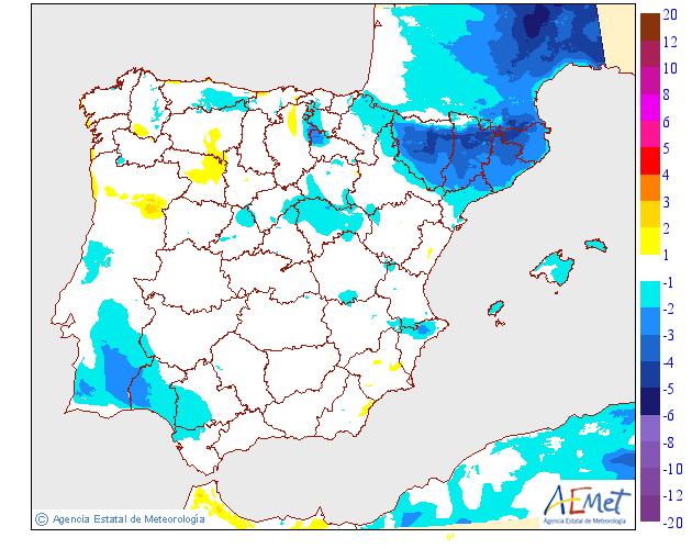 Variación temperaturas máximas AEMET. Meteosojuela La Rioja 17