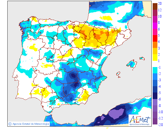 Variación temperaturas máximas AEMET. Meteosojuela La Rioja 19