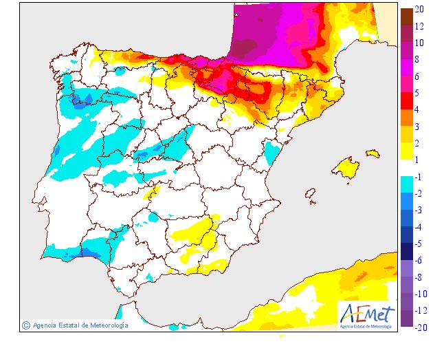 Variación temperaturas máximas AEMET. Meteosojuela La Rioja 21