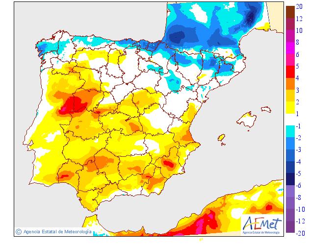 Variación temperaturas máximas AEMET. Meteosojuela La Rioja 25