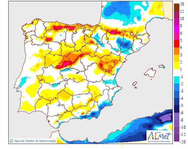 Variación temperaturas máximas AEMET. Meteosojuela La Rioja01