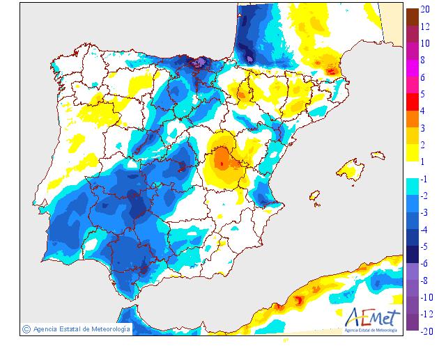 Variación temperaturas máximas AEMET. Meteosojuela. La Rioja