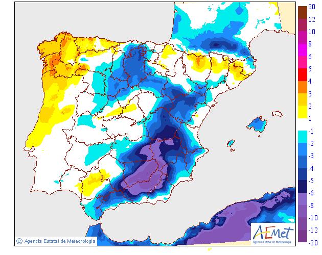 Variacion temperaturas maximas AEMET. Meteosojuela