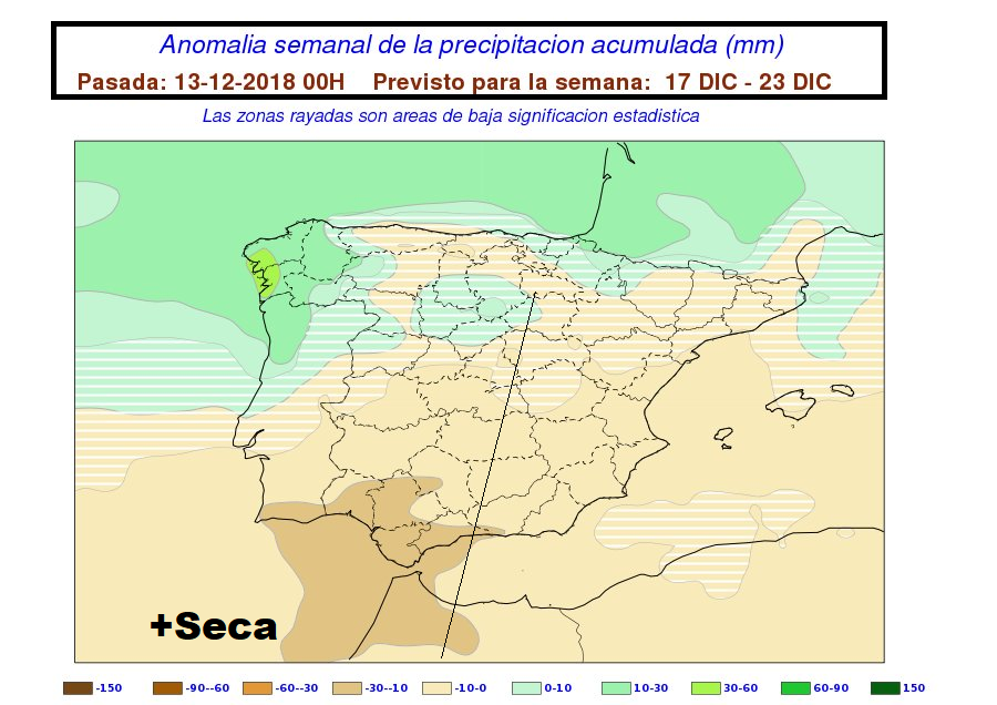 Anomalías de Precipitación AEMET. Meteosojuela