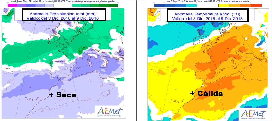 Anomalías de Presión y Temperatura AEMET. Meteosojuela