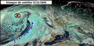 Imagén de satélite frente Atlántico