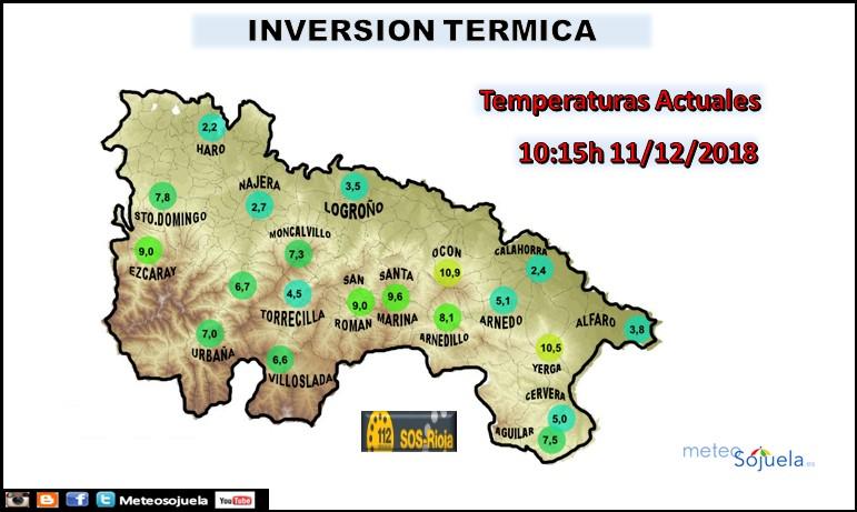 Inversión térmica La Rioja Meteosojuela