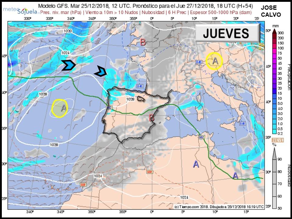 Modelo Centros de Presión Meteosojuela La Rioja Jose Calvo 2