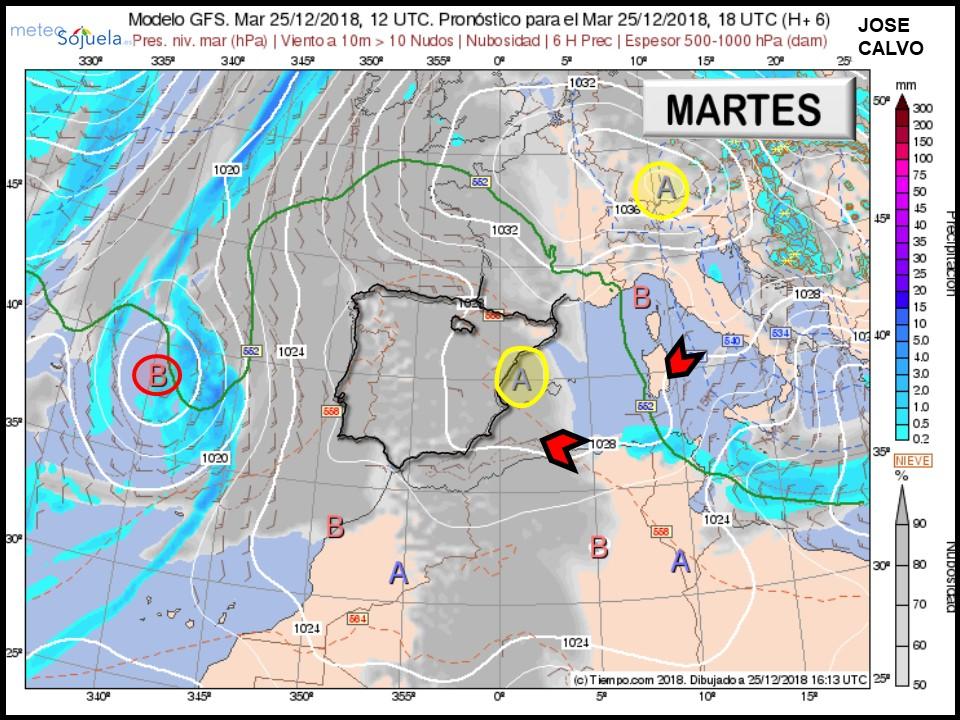 Modelo Centros de Presión Meteosojuela La Rioja Jose Calvo