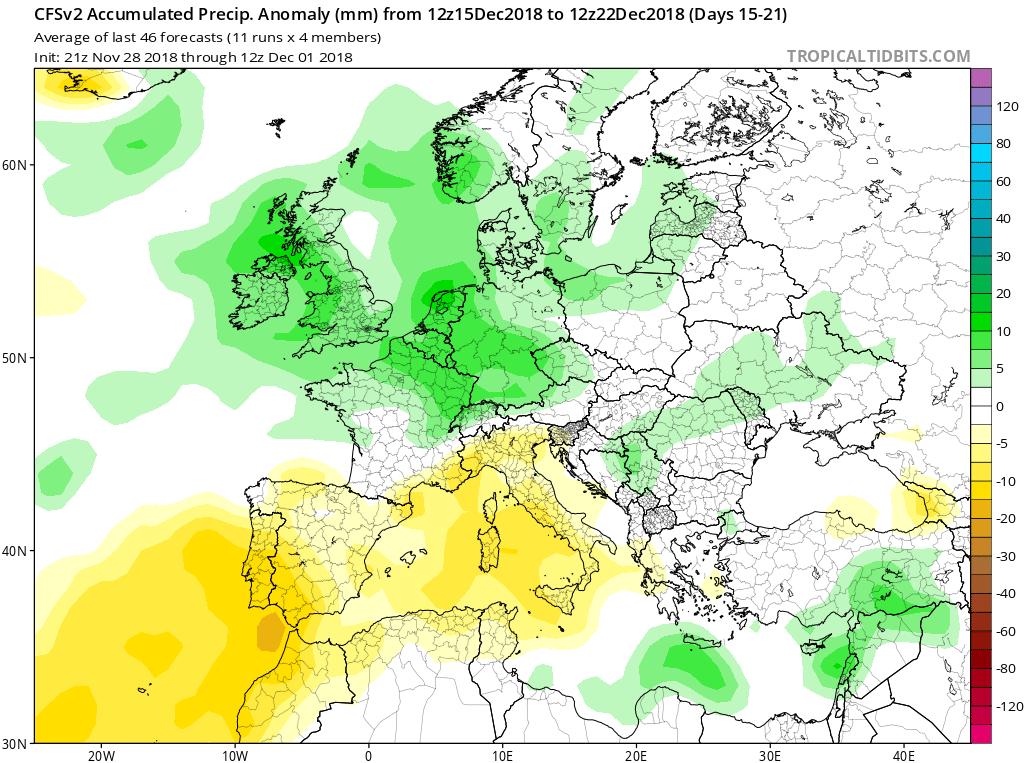 Modelos Anomalías de Precipitación CFS. Meteosojuela La Rioja