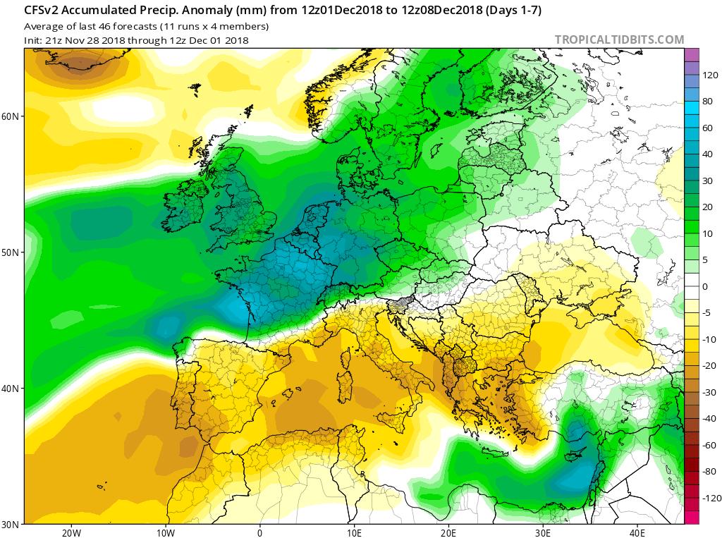 Modelos Precipitación acumulada CFS Meteosojuela La Rioja