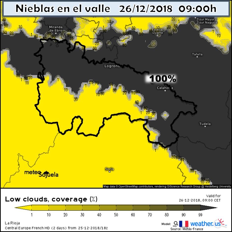 Modelos de Niebla. Meteosojuela La Rioja Jose Calvo