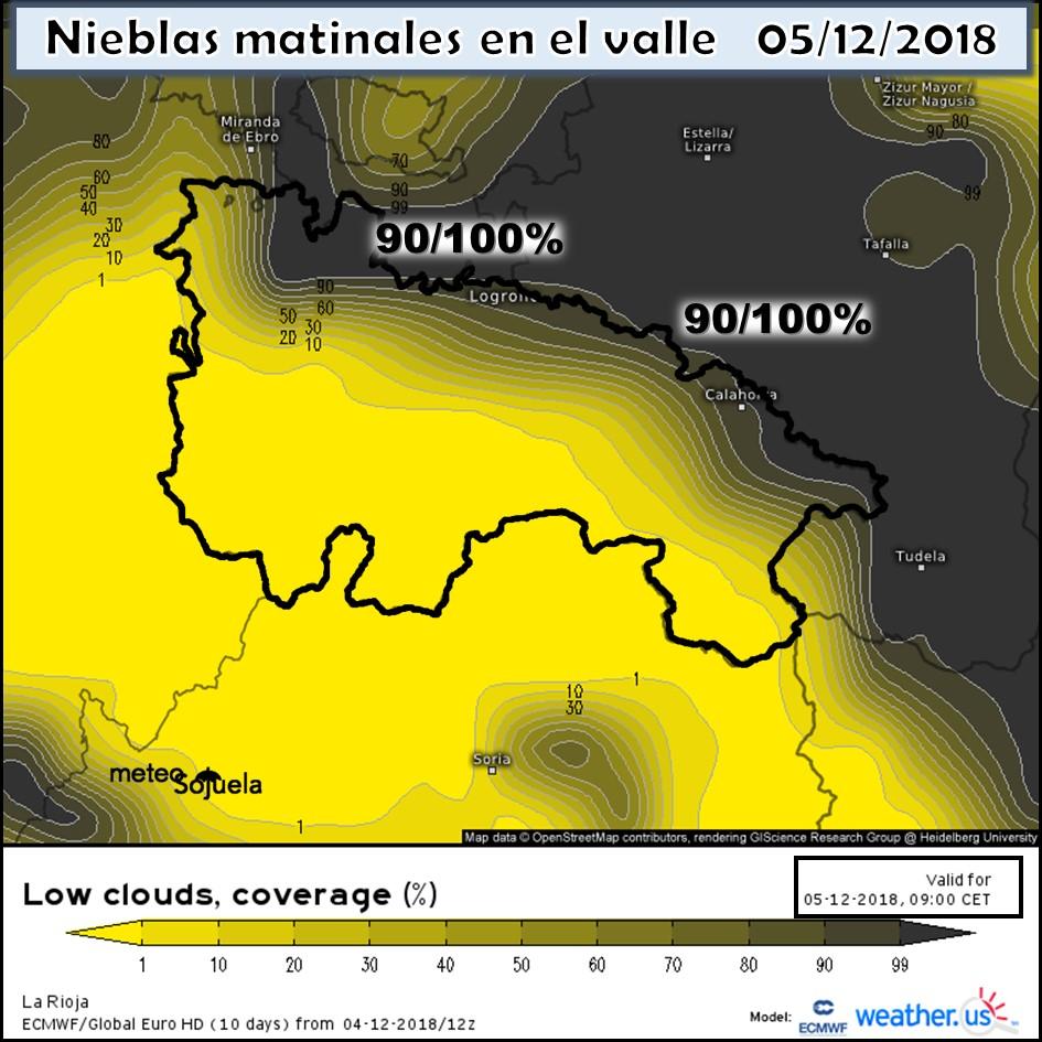 Nieblas en el Valle. Meteosojuela La Rioja