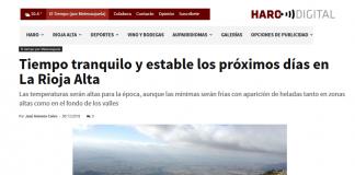 Portada Harodigital. 3012 com Meteosojuela. La Rioja