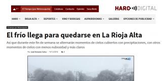Portada Harodigital.com Meteosojuela 1512. La Rioja