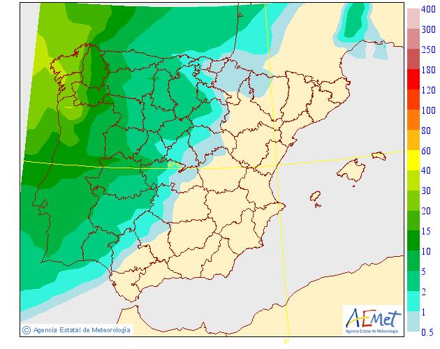 Precipitación media AEMET. 18 Meteosojuela La Rioja