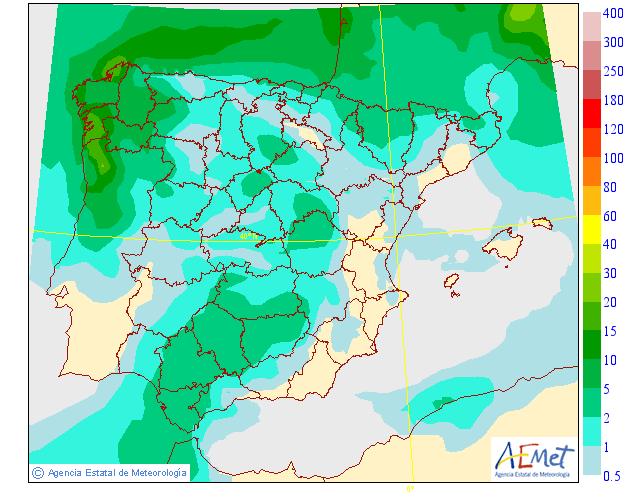 Precipitación media AEMET. 19 Meteosojuela La Rioja