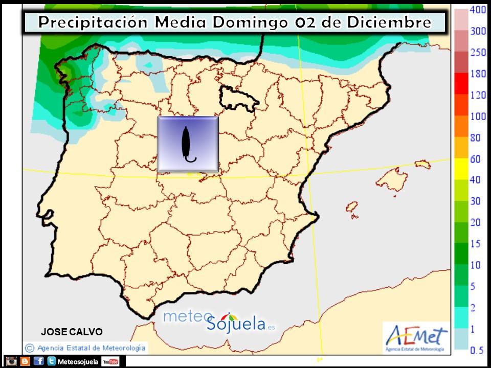 Precipitación media AEMET. Meteosojuela La Rioja 02