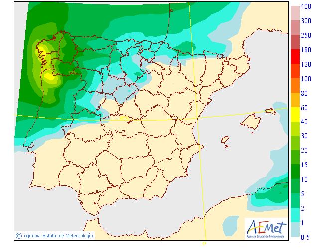 Precipitación media AEMET.15 Meteosojuela La Rioja