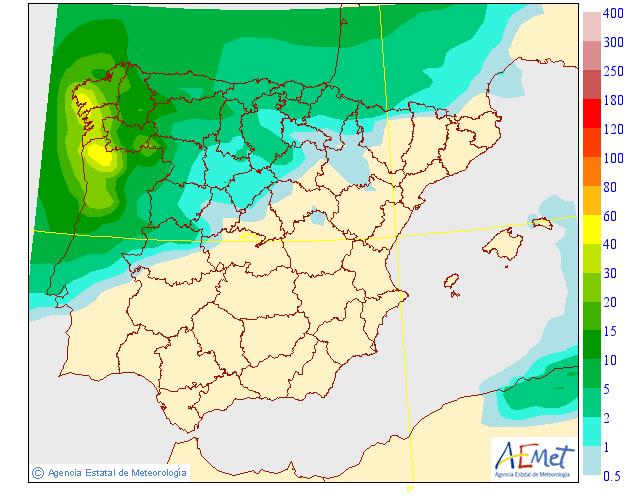 Precipitación media AEMET.16 Meteosojuela La Rioja