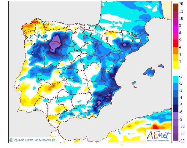 Variación de temperaturas máximas AEMET 10 . Meteosojuela Jose Calvo