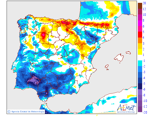 Variación de temperaturas máximas AEMET 11 . Meteosojuela Jose Calvo