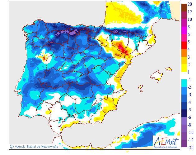Variación de temperaturas máximas AEMET 12 . Meteosojuela Jose Calvo