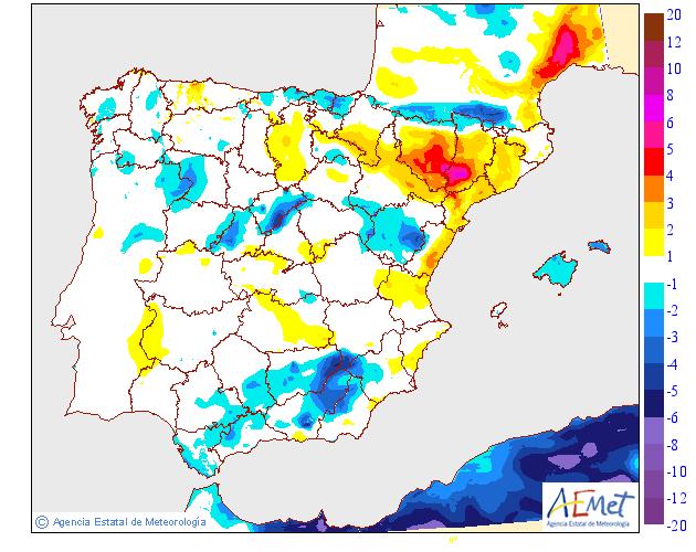 Variación de temperaturas máximas AEMET 14 . Meteosojuela Jose Calvo