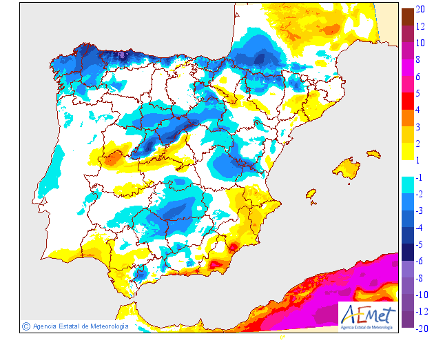 Variación de temperaturas máximas AEMET 16 . Meteosojuela Jose Calvo