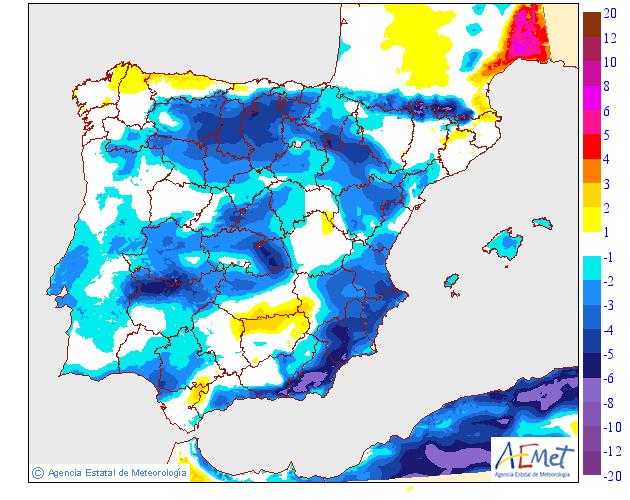 Variación de temperaturas máximas AEMET. 17 Meteosojuela La Rioja