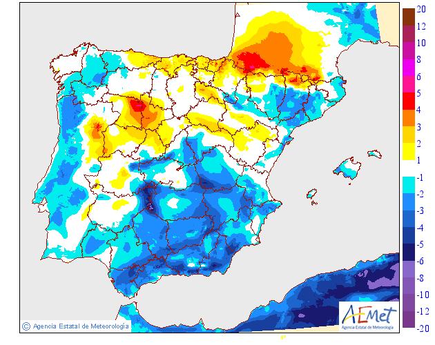Variación de temperaturas máximas AEMET. Meteosojuela 07