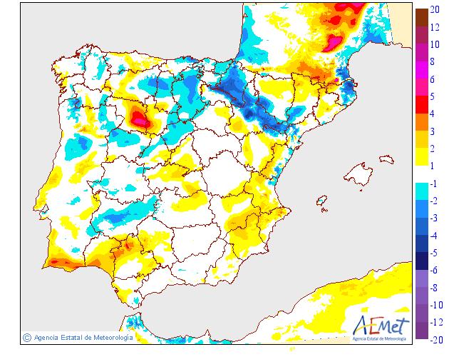 Variación temperaturas máximas AEMET. Meteosojuela La Rioja 05