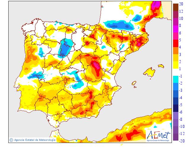 Variación temperaturas máximas AEMET. Meteosojuela La Rioja 22