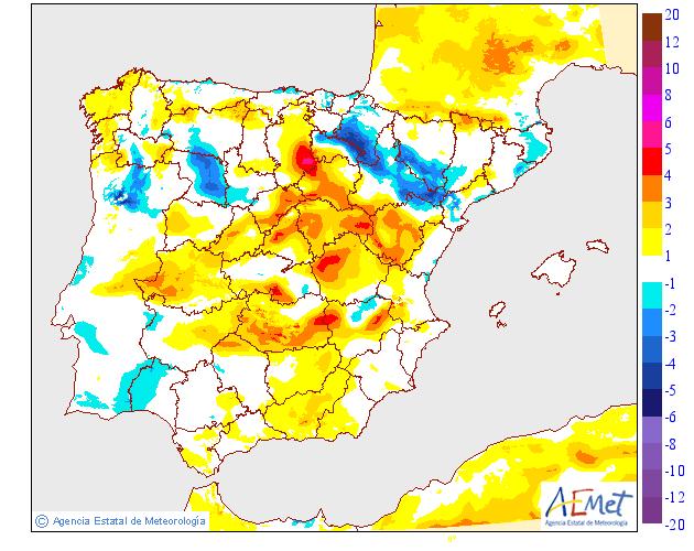 Variación temperaturas máximas AEMET. Meteosojuela La Rioja 23