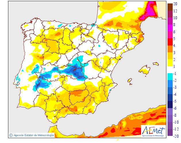 Variación temperaturas máximas AEMET. Meteosojuela La Rioja 27