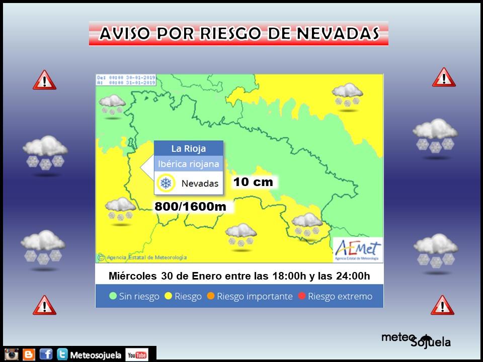 Aviso Amarillo Nieve 30 AEMET