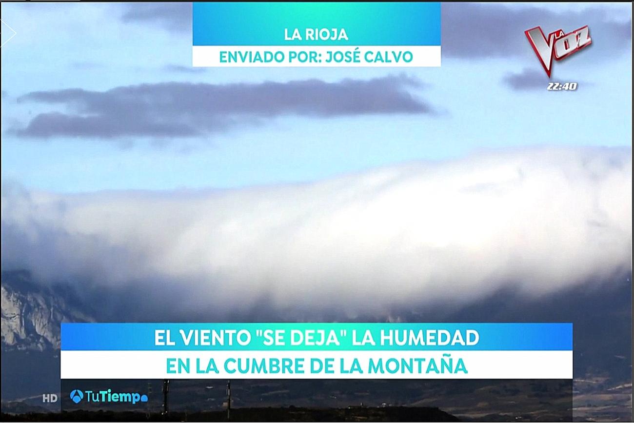 Barra de Cierzo desde Logroño en A3. Meteosojuela La Rioja