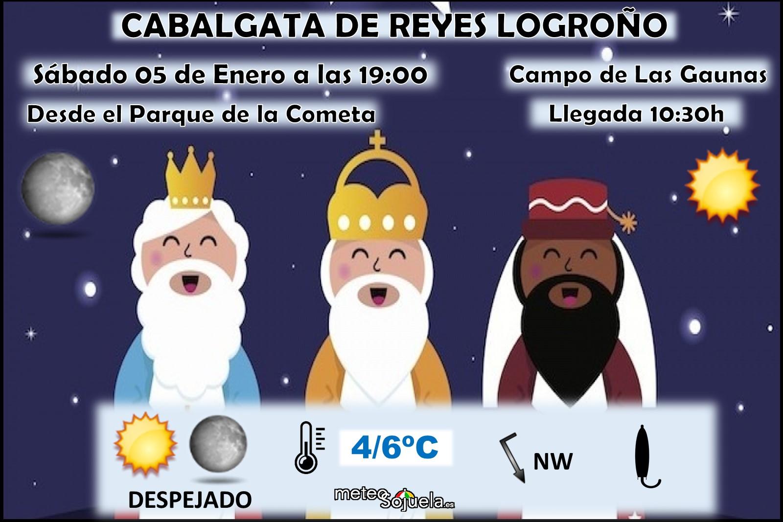 Cabalgata y llegada de Reyes Magos Logroño. Meteosojuela La Rioja