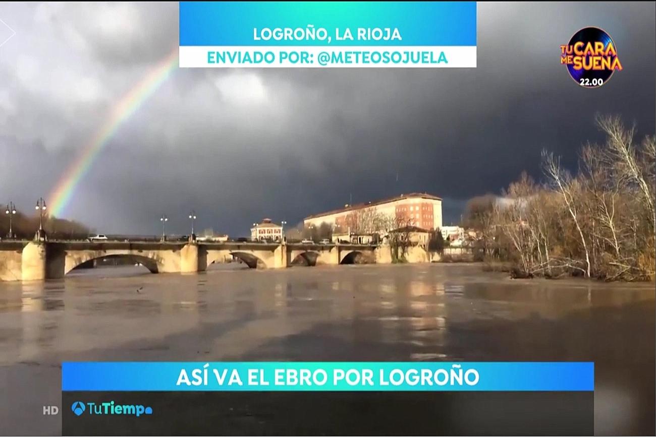Crecida Ebro. Antena 3 25 . Meteosojuela La Rioja