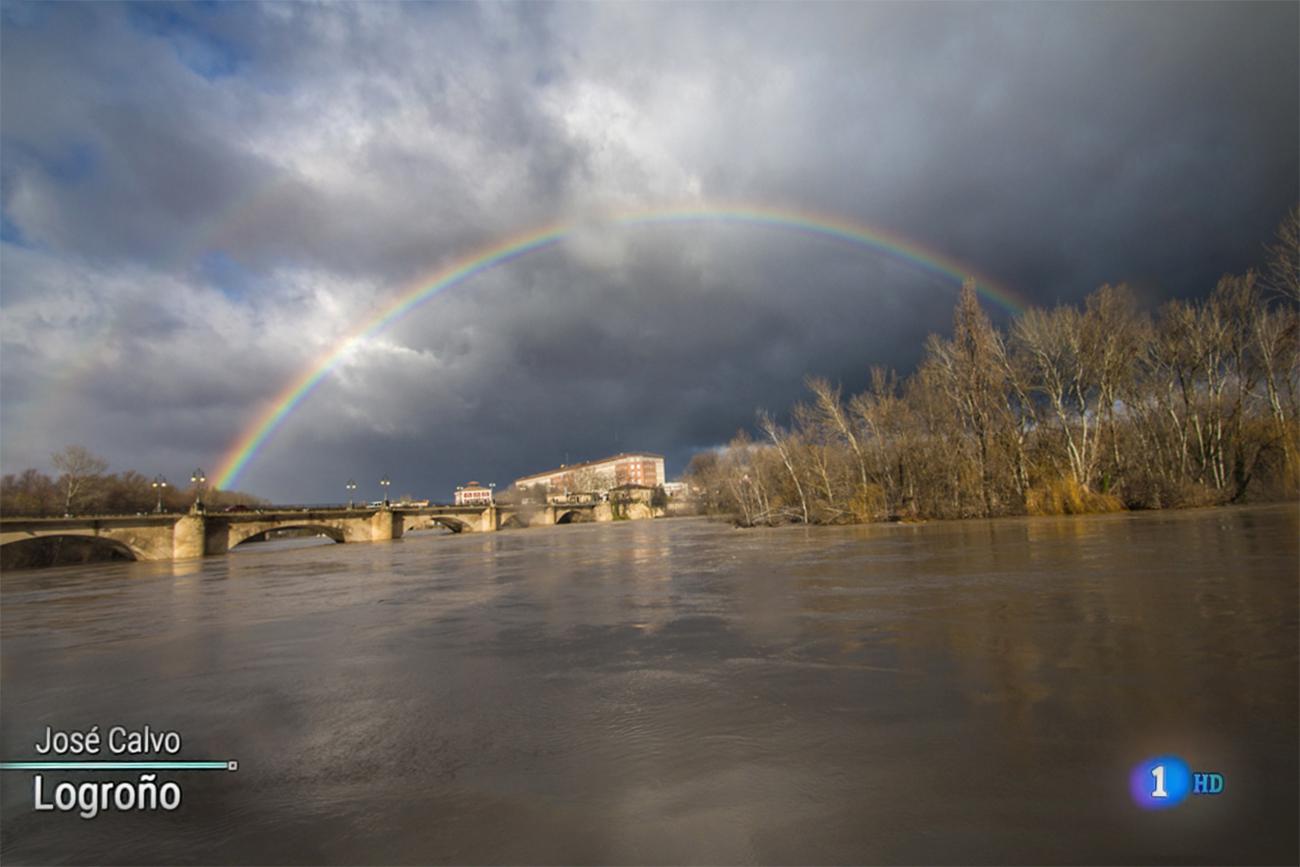 Crecida Ebro. tve1 . Meteosojuela La Rioja