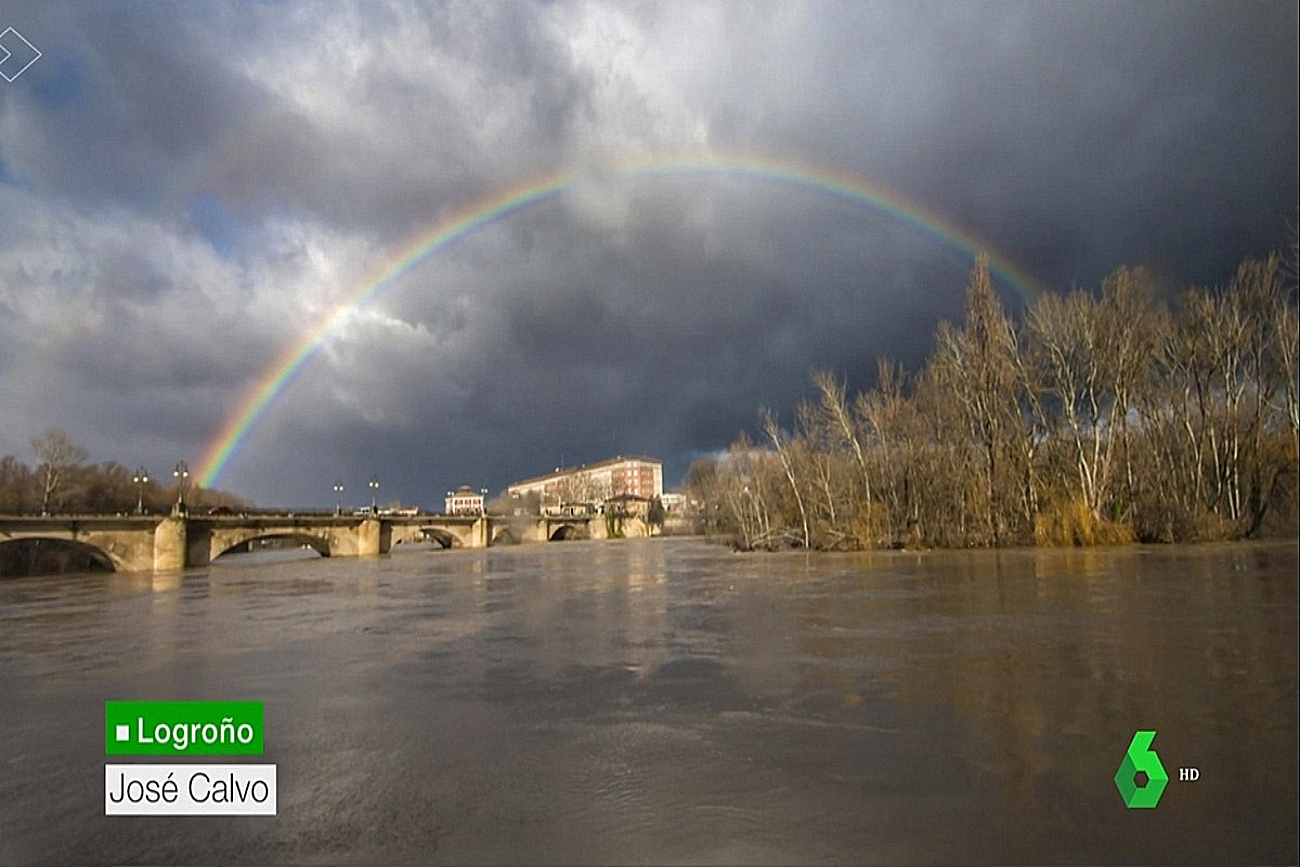 Crecida rio Ebro. La Sexta Meteo