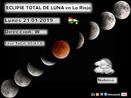 Eclipse de Luna Total en La Rioja. 21012019 Meteosojuela La Rioja