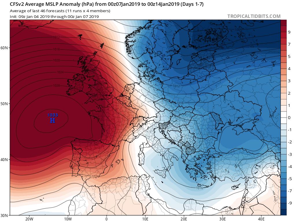 Modelos de Altura de Geopotencial a 500hPa GFS Europa. 2s Meteosojuela La Rioja