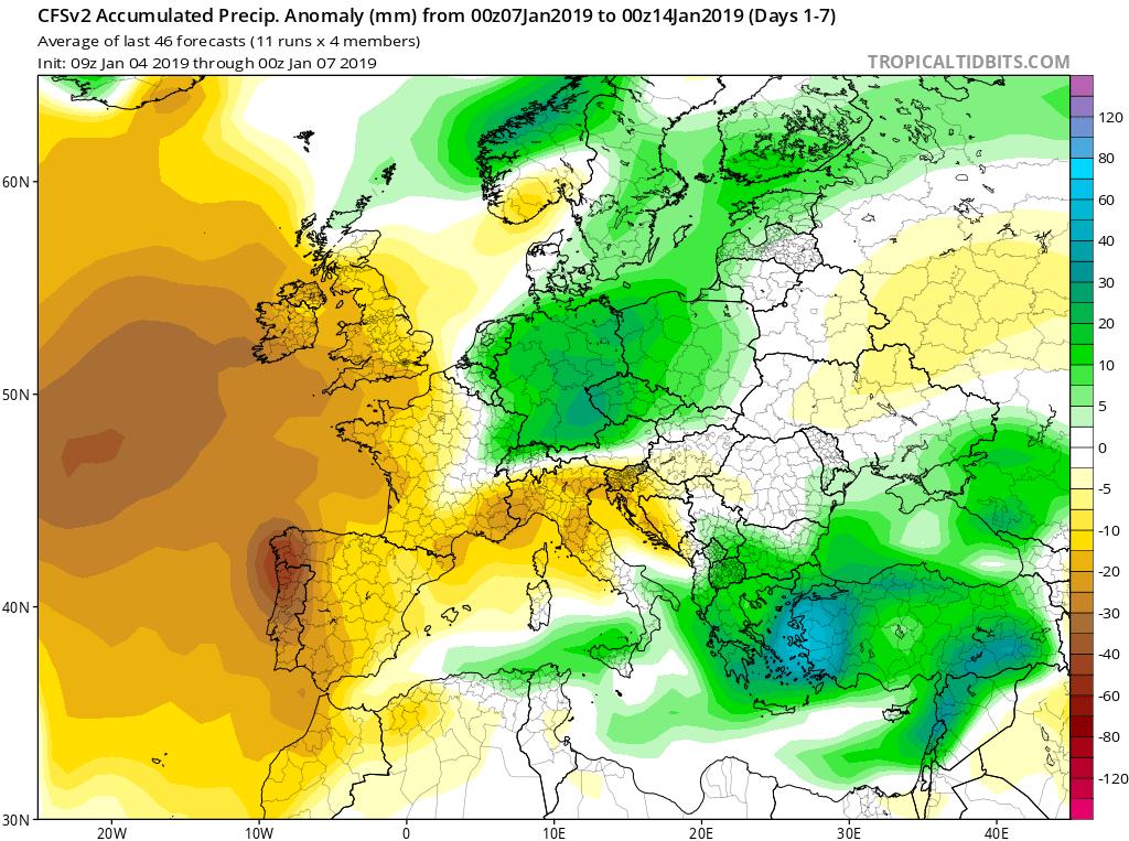 Modelos de precipitación semanales GFS 2S Jose Calvo. Meteosojuela La Rioja.